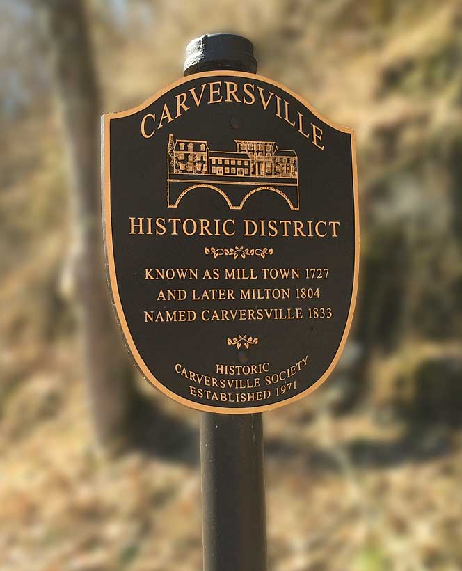 Carversville Dedication Sign